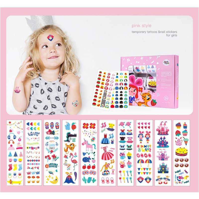 Eva2king детская тату наклейка милые наклейки для ногтей игрушки для детей водонепроницаемые наклейки Pegatinas рождественские подарки Oyuncak