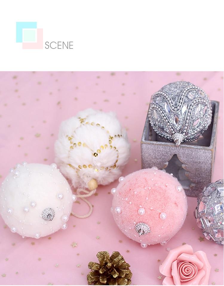 11 inhoo 78cm Merry Christmas Rhinestone Glitter Baubles Balls Christmas Tree Hanging Ornaments Decor foam balls Styrofoam Balls