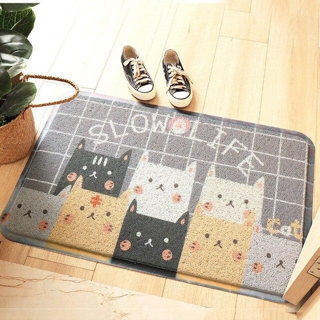 kitchen floor mats memory foam kawaii welcome doormat nonslip kitchen floor mat cute cartoon bulldog carpet bedroom rugs living non slip