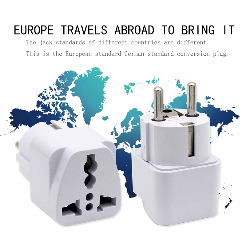European EU Plug Adapter Japan China American Universal UK US AU To EU AC Travel Power Adapters Converter Electrical Charger Pakistan
