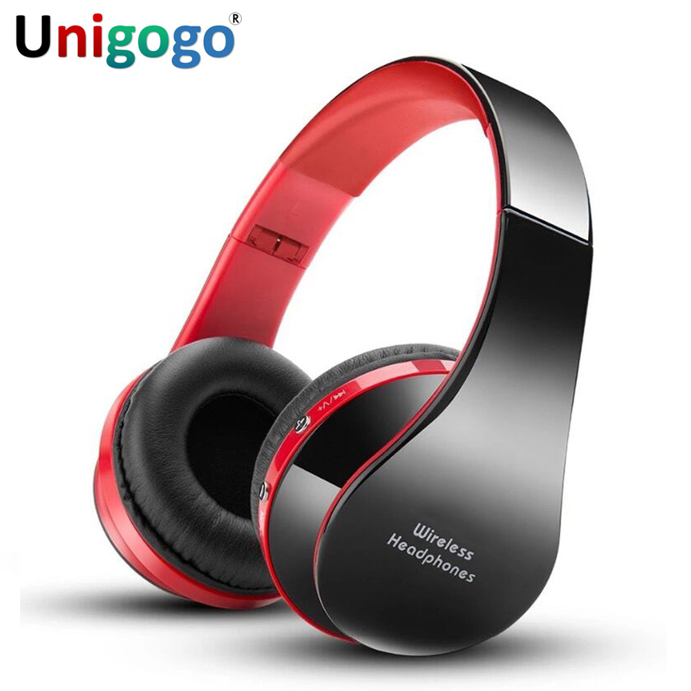 цена на Foldable HiFi Deep Bass Headphones Wired/Wireless Stereo fone Bluetooth Sport Earphones Over-Ear Gaming Headset with Microphone