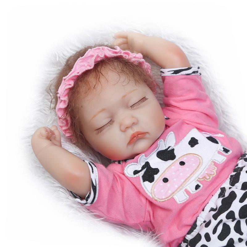 NPK 40cm girl doll reborn New Soft Body Silicone Rebornn dolls Newborn Girls Babies kids bebe gift reborn realista