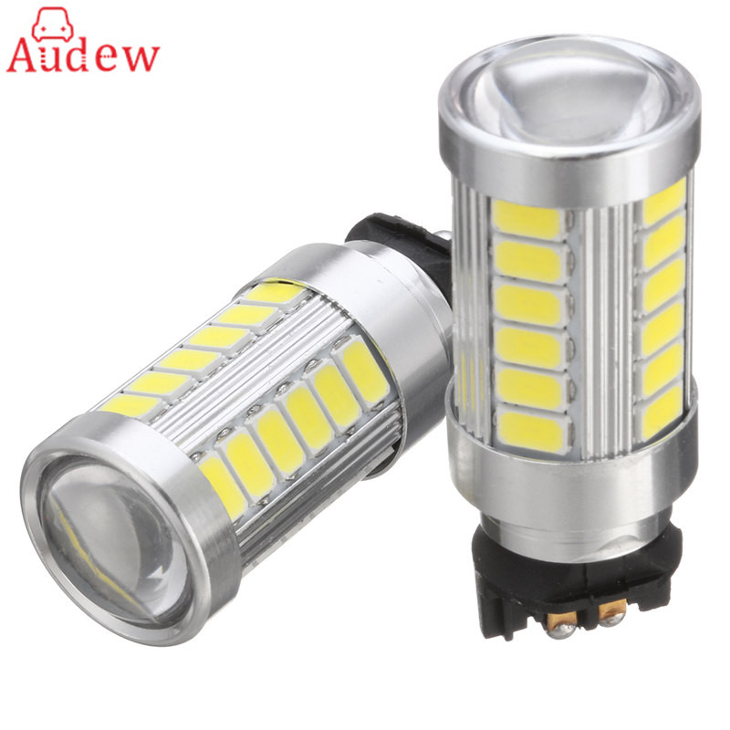 2Pcs  33-SMD White Fog Light Lamp PW24W LED Bulbs for HID Fog/DRL Daytime Light