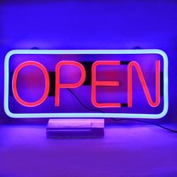 Led Winkel Open Teken Reclame Verlichting Winkelcentrum Heldere Neon Business Store Neon Inscriptie Met Afstandsbediening