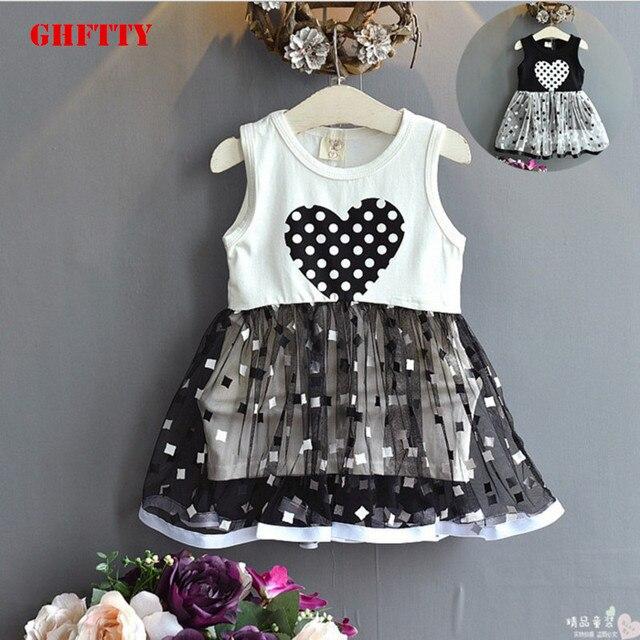 2bf232c71977f Enfants bébé filles vêtements fille princesse robe sans manches Air gilet  couture gaze coton décontracté robes de fête