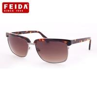 FEIDA Cat Eye Sunglasses Men Fashion 3 Colors Glasses Brand Designer Polarized Eyewear Acetate Frame Men Sunglasses UV400 D382