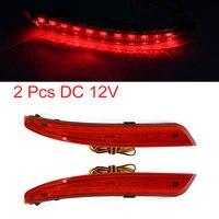 UXCELL Araba Kırmızı 11 Led Arka Tampon Reflektör Kuyruk Fren Sis Işık Nissan Sylphy Için 2 Adet