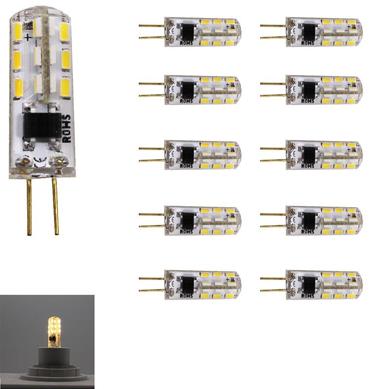 10x G4 Светодиодный ная лампа 220 в 24 SMD3014 2 Вт светодиодный ная лампа 360 градусов угол луча силиконосветодиодный светодиод светильник люстры лам...