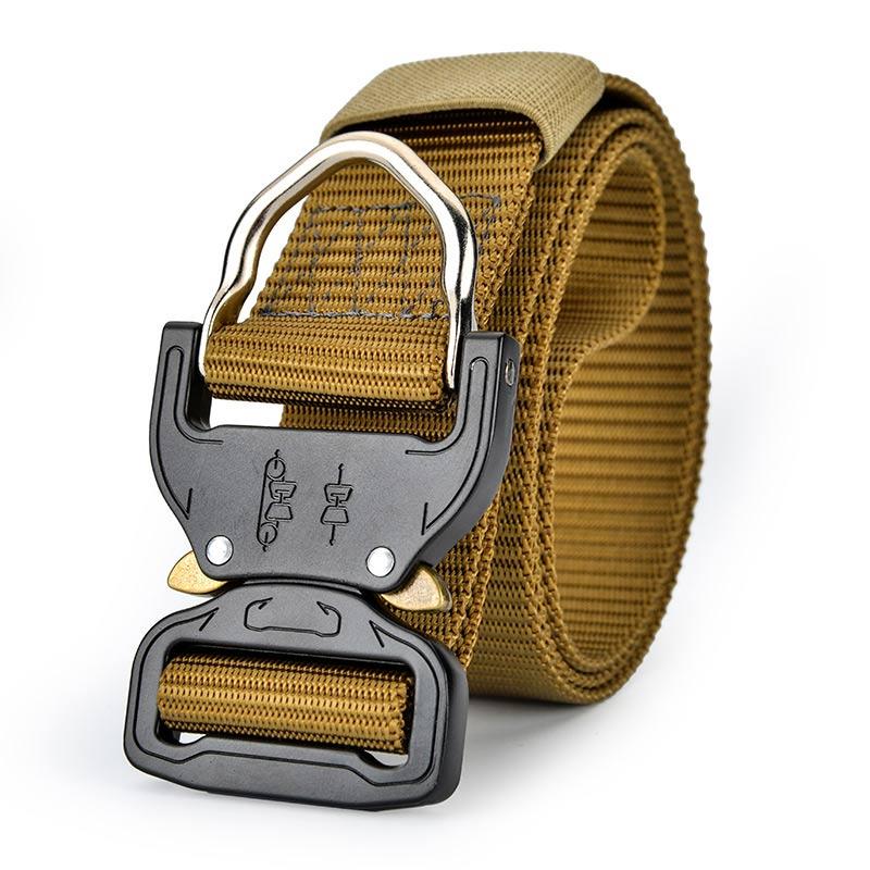 125CM Tactical Waist Belt Adjustable Waistband Waist Support Heavy Duty Belt