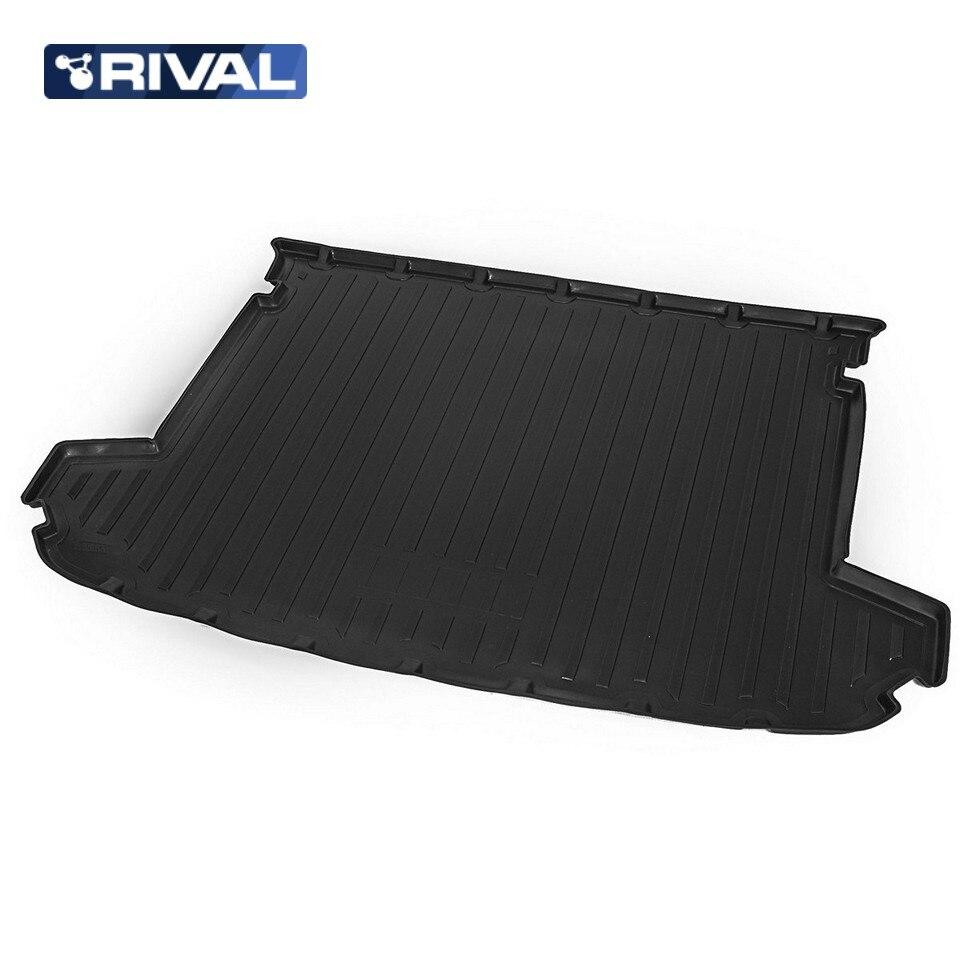 For Kia Sportage QL 2016-2019 trunk mat Rival 12805004 коврик багажника rival для kia sportage 2016 н в полиуретан 12805004