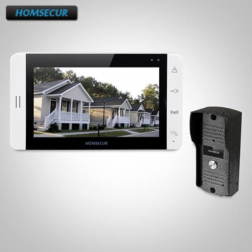HOMSECUR 7 Hands-free Video&Audio Home Intercom+White Monitor for ApartmentHOMSECUR 7 Hands-free Video&Audio Home Intercom+White Monitor for Apartment