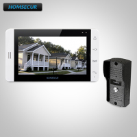 HOMSECUR 7 Hands free Video&Audio Home Intercom+White Monitor for Apartment