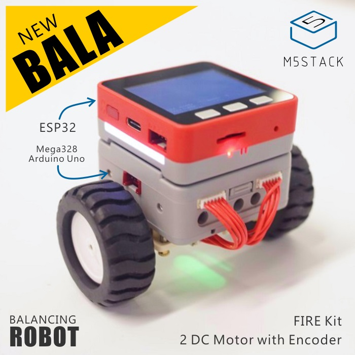 M5Satck New BALA Car! ESP32 Development Mini Electric Self-balancing Car 2DC Motor With Encoder PSRAM Kit MPU9250 BLE