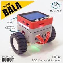 M5Satck New BALA Car! ESP32 Development Mini Electric Self balancing Car 2DC Motor with Encoder PSRAM Kit MPU6886 BLE