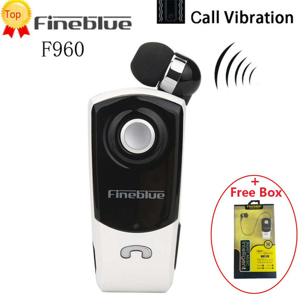 Fineblue F960 Mini Bluetooth Earphone Wireless In-Ear Handsfree With Microphone Headset Calls Remind Vibration Wear Clip Driver