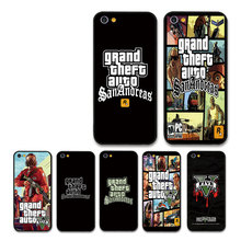 Gta San Andreas Free game gta vice city Cover For iPhone 5 6 6S 7 8 8plus 7plus 6plus  X XR XS Max phone fitted bumper case