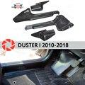 Отделка ковра порога двери для Renault Duster 2010-2018 Внутренний порог шаг пластины отделка защита аксессуары с покрытием украшение Стилизация авто...