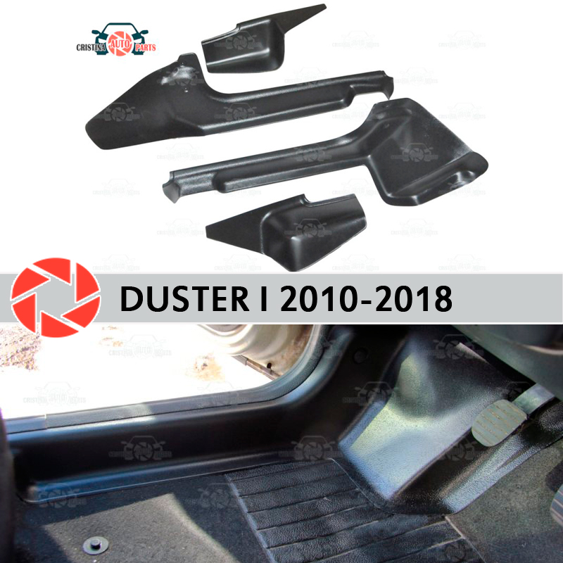 Door sill trim carpet for Renault Duster 2010-2018 inner sill step plate trim protection carpet accessories car styling decor funlife dm050 door sticker portuguese sea view pattern decor