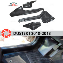 Отделка ковра порога двери для Renault Duster 2010-2018 Внутренний порог шаг пластины отделка защита аксессуары с покрытием украшение Стилизация автомобиля