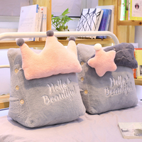 Lovely Sky Series Pillow Moon Star Clouds Crown Plush Toys Soft Cushion Sofa Backre Bed Decoration Kawaii Birthday Gift For Girl