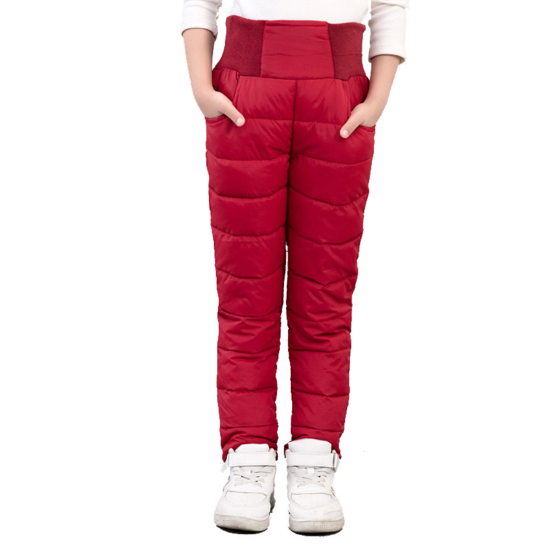 2018 Children Long Pants Boys Girls Trousers For Girls Winter Thicken Warm Slim Clothes Down Baby Kids Autumn Winter Clothing girls winter dresses elegant thicken kids dresses for girls warm cotton children clothes clothing autumn winter 7 16y pink blue