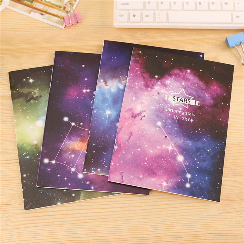 New Vintage Romatic Starry Sky Series Kraft Paper font b Notebook b font Journal Diary Notepad