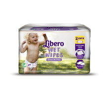Влажные салфетки Libero Wet Wipes Экономичная упаковка, 128 шт.