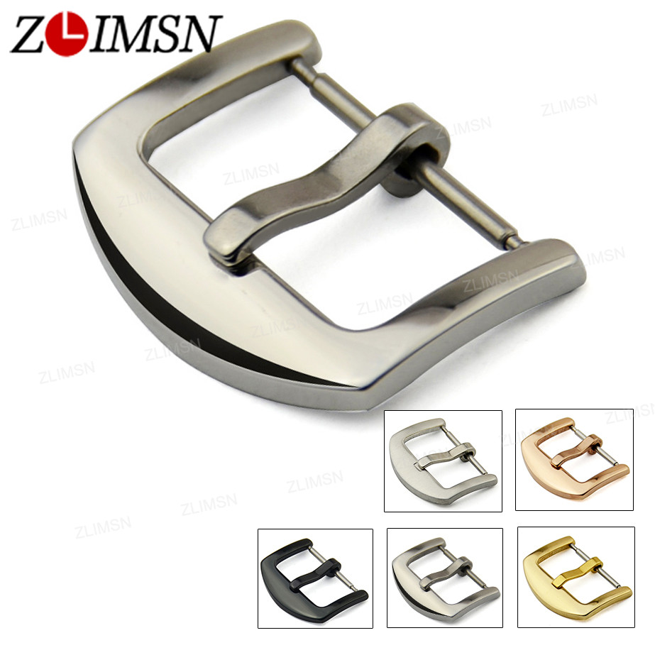 Watch Buckle 16mm 18mm 20mm 22mm 24mm 26mm Silver Gold Black Stainless Steel Watchband Clasp Buckles Wristwatch Repair Tool K205 stainless steel cuticle removal shovel tool silver