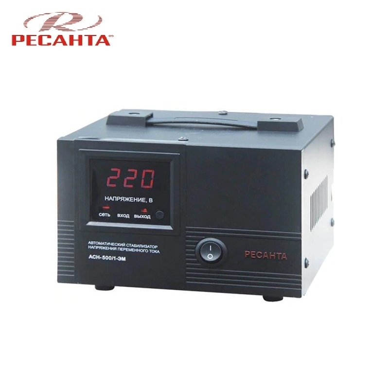Single phase voltage stabilizer RESANTA ASN 500/1 EM Voltage regulator Monophase Mains stabilizer Surge protect Power stab single phase voltage stabilizer resanta asn 500 1 em voltage regulator monophase mains stabilizer surge protect power stab