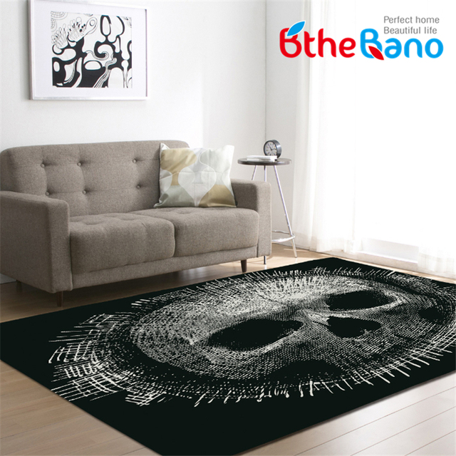 Creative Skull Delicate Modern Soft Carpets For Living Room Bedroom Kid  Play Delicate Rug Home Floor