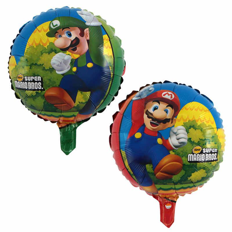 1 個 68*44 センチメートルスーパーマリオバルーンパーティークラシックおもちゃマリオマイラーホイルバルーンスーパー hero 誕生日パーティーの装飾ボール