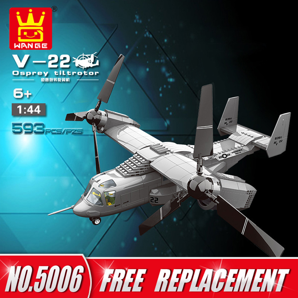 Wange Diy Blocks Military Helicopter Series J15 Fighter V 22 Osprey Engine Diagram Kj 2000 Awacs Educational Building Kids Toys Gifts In From Hobbies
