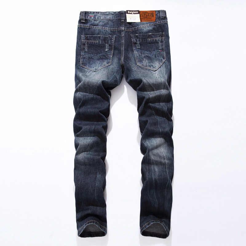 2019 новый бренд dsel модные дизайнерские джинсы мужские прямые синие мужские джинсы с принтом рваные мужские джинсы! E988