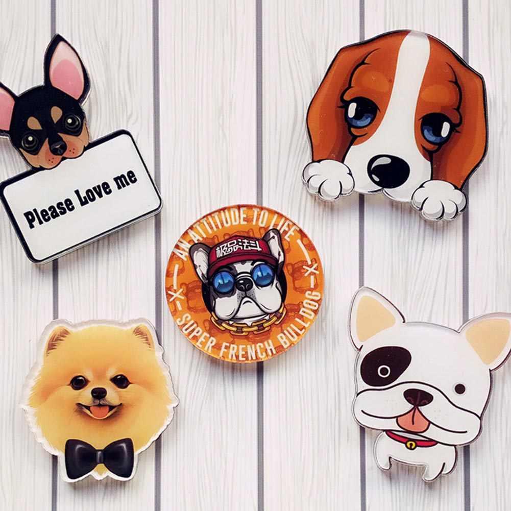 Очаровательная подвеска для домашних собак, значок, украшенные булавками, Милая брошь из мультфильма, паста в виде ракушки для телефона, двойное использование, заслуживающая выполнения функций подарка
