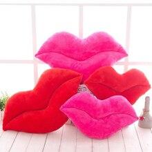 Soft Plush Sexy Large Lip Throw Pillow Waist Cushion Cute Bed