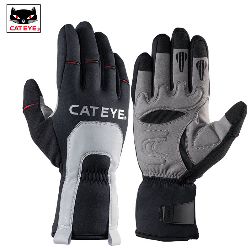 CATEYE Men's Ski Winter Thermal Gloves  30 Degree Full Finger Windproof Skiing Motorcycle Snowboarding Outdoor Sports Ski Gloves-in Skiing Gloves from Sports & Entertainment    1