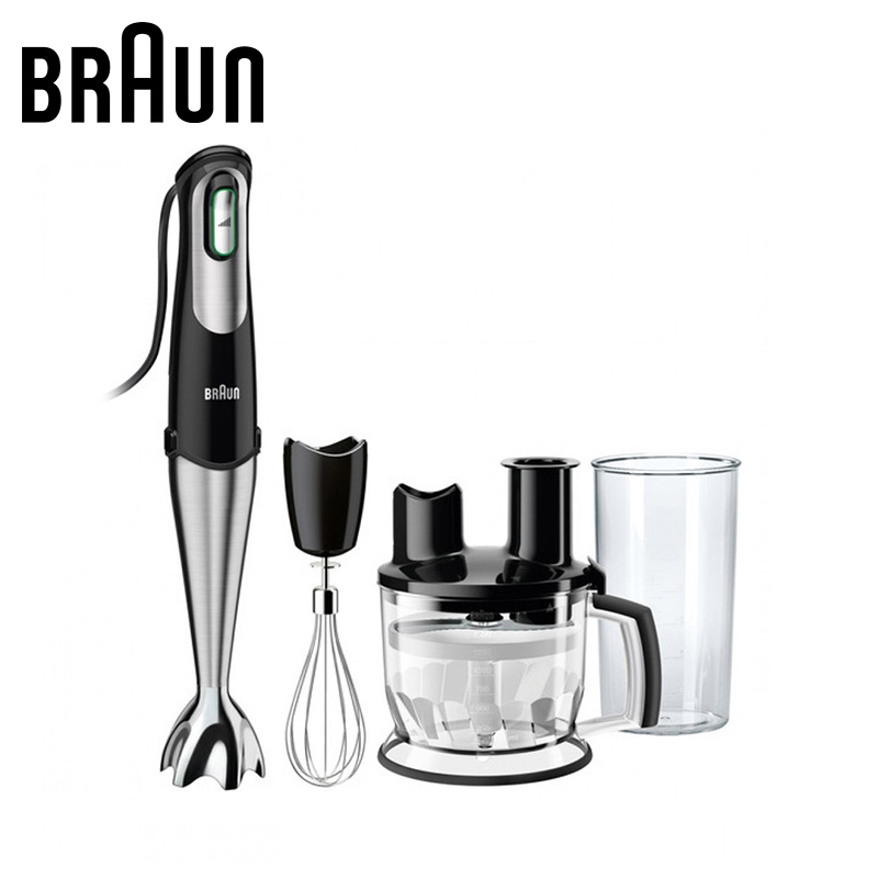 Blender Braun MQ775 PATISSERIE BK electric kitchen submersible blenders mixer smoothie With wisk With chopper MQ 775 bpa free german motor technology 2200 watt blender professional smoothie maker