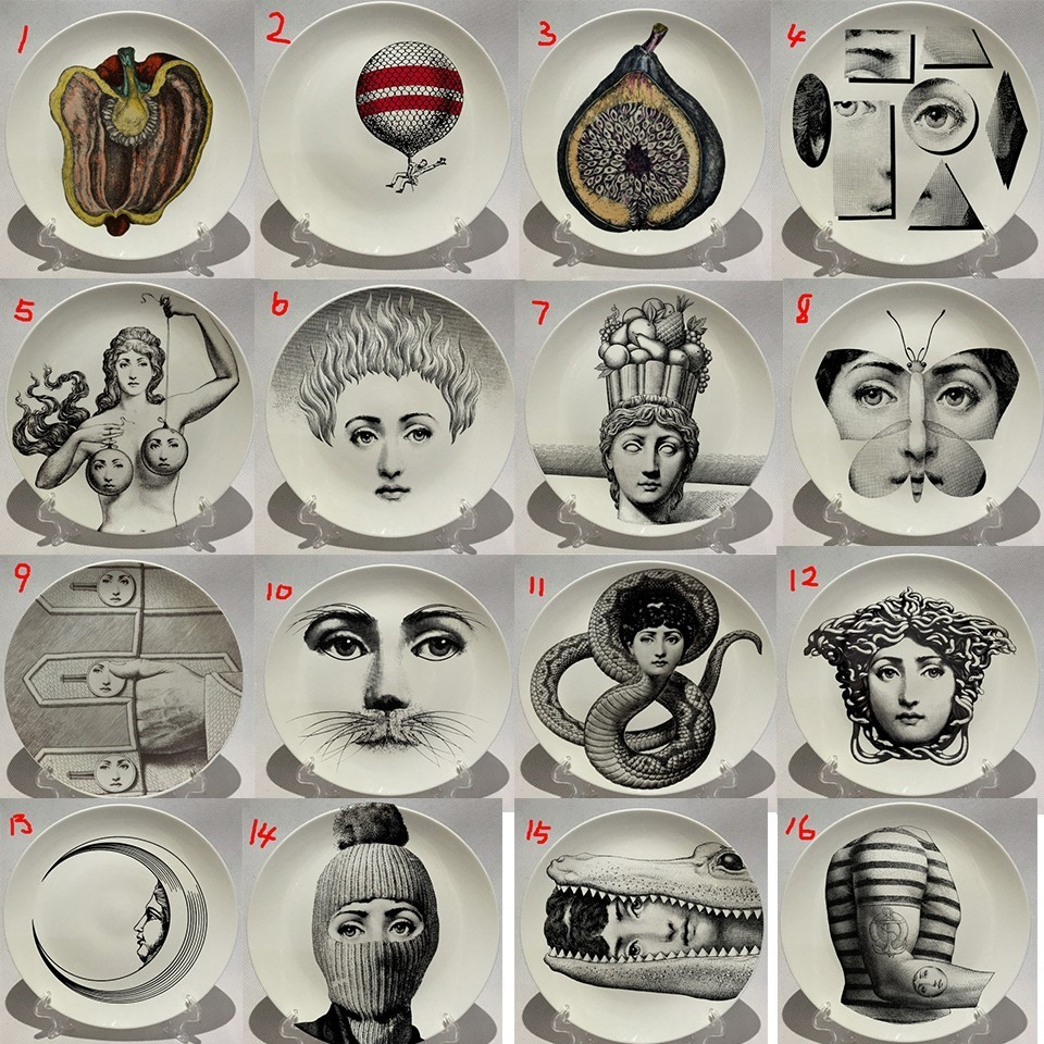 Fornasetti Plates Art Beauty Face SKULL Custom Los Platos For Art Bedroom Home Cafe Fashion Decoration Artistic Decorative Dish