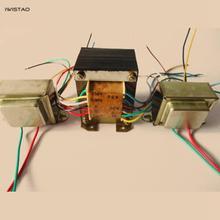 مجموعة محول أمبير لأنبوب IWISTAO لمحول 6P1 6P14 6P6 بما في ذلك 1 قطعة 85 واط محول كهربائي 2 قطعة