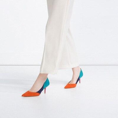 La Azul Zapatos Nueva Recortes Bombas Desnudo De 2 Mujer Femenina Color 1 Tacones Moda Cm 6 7 4 3 Rose Estrecha Gris Naranja Red Altos 5 Punta Talón Para Mezcla x1Y1qOr6