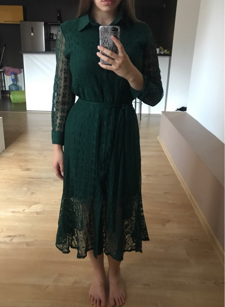 Spring Hollow Out Lace Women Long Dress With Belt Single Breasted Elegant Mermaid Female Dress Full Sleeve Autumn Vestidos Femme photo review