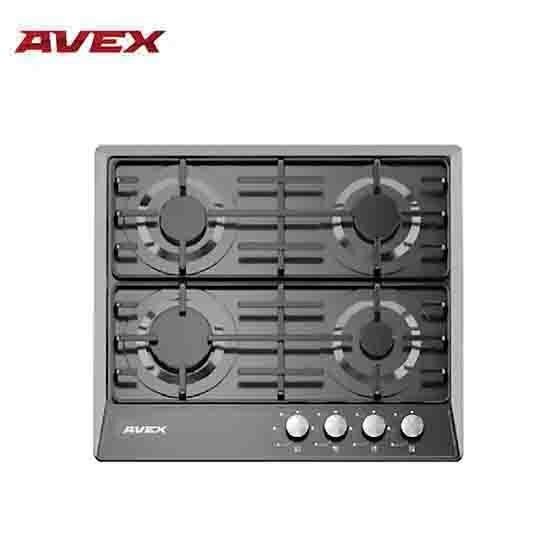 Встраиваемая варочная панель AVEX NS 6040 B, поверхность черная эмаль, электро-поджиг