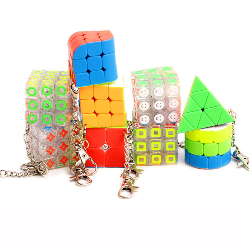 Puzzle Rubiks Cube Neo 3x3x3 Magic Anti-stress Toys Puzzles Speed Neo Cube Magico Fidget Keychain Educational Toy For Children carbon fiber sticker speed 3x3x3 magic magico rubik s cube fidget cube magico educational brain teaser toys for children adult