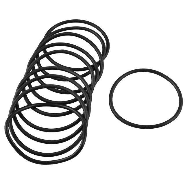 Uxcell 10 Pcs 3Mm Thick Rubber Oil Seal Sealed Gasket O Rings Black ...