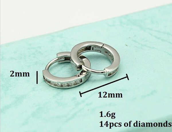 Zircon cubique boucles d'oreilles pour femmes filles cadeau mode cristal rond mignon zircone Brinco Pendientes Plata vente en gros Y046P