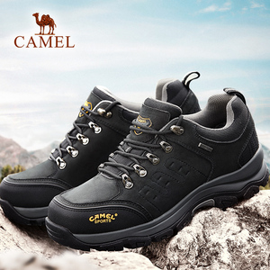 Image 4 - Deve erkekler kadınlar yürüyüş ayakkabıları inek deri üst 2019 sonbahar dayanıklı Anti kayma sıcak açık dağ tırmanışı Trekking ayakkabıları