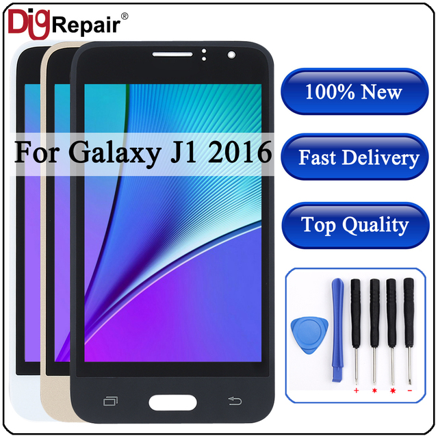 j120f lcd For SAMSUNG GALAXY J1 2016 LCD J120 J120f J120M J120H Display Touch Screen Digitizer display for Samsung j120f lcd