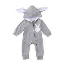 Теплый хлопковый комбинезон с длинными рукавами и милыми животными; комбинезоны; Одежда для новорожденных мальчиков и девочек; комбинезон