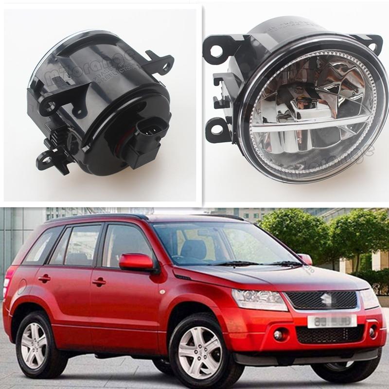 цена на For Suzuki Grand Vitara 2 JT 2005-2015 Car Styling CCC E2 3000-1WK LED Fog Lamps DRL Lights 1 Set