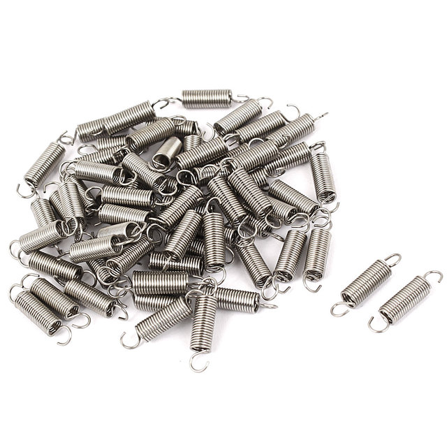 UXCELL 0.5Mmx4.1X18mm металлический двойной крюк небольшой Натяжной пружины 64 шт.